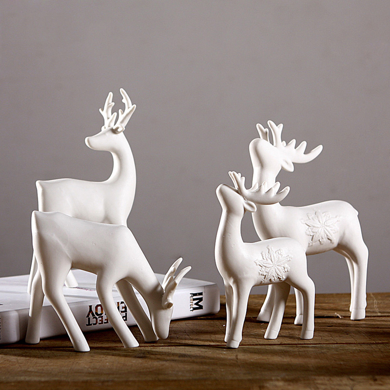 Modern living room minimalist fashion ceramic ornaments creative crafts deer ornaments soft home furnishings desk study
