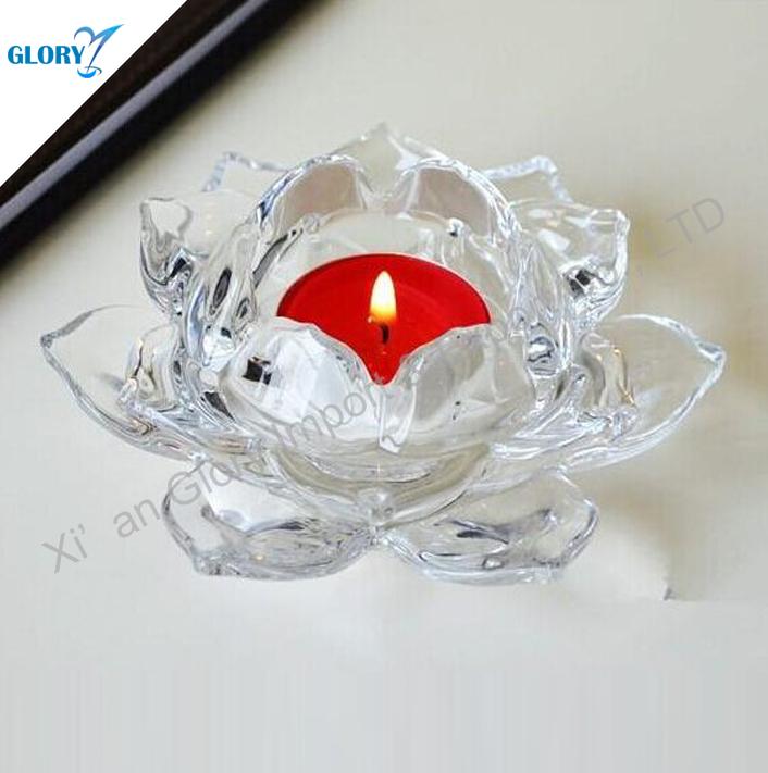 Custom Crystal Lotus Flower Candle Holder Wholesale Buy Lotus