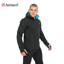 Noir marine gris 3 couches micto <span class=keywords><strong>polaire</strong></span> hommes softshell <span class=keywords><strong>imperméable</strong></span> extérieure à capuche <span class=keywords><strong>veste</strong></span> pour l'hiver