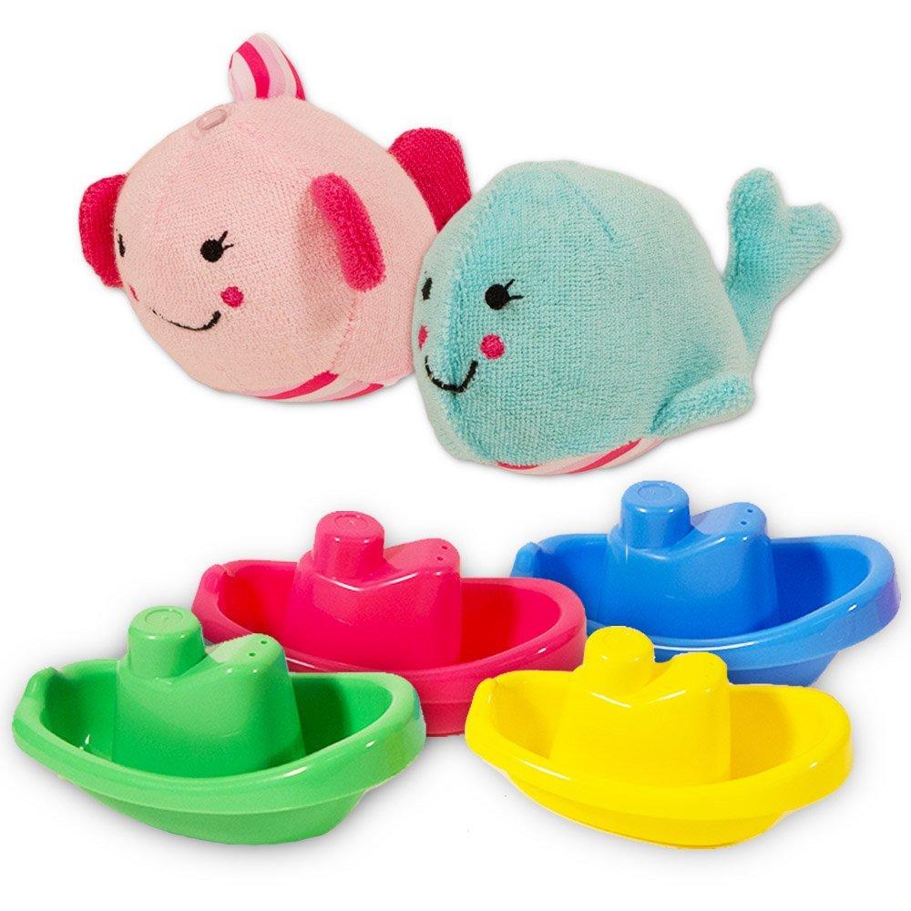 Buy 4x Plastic Baby Bath Boats - 11cm - Party Bag Toys - Fun Bath ...