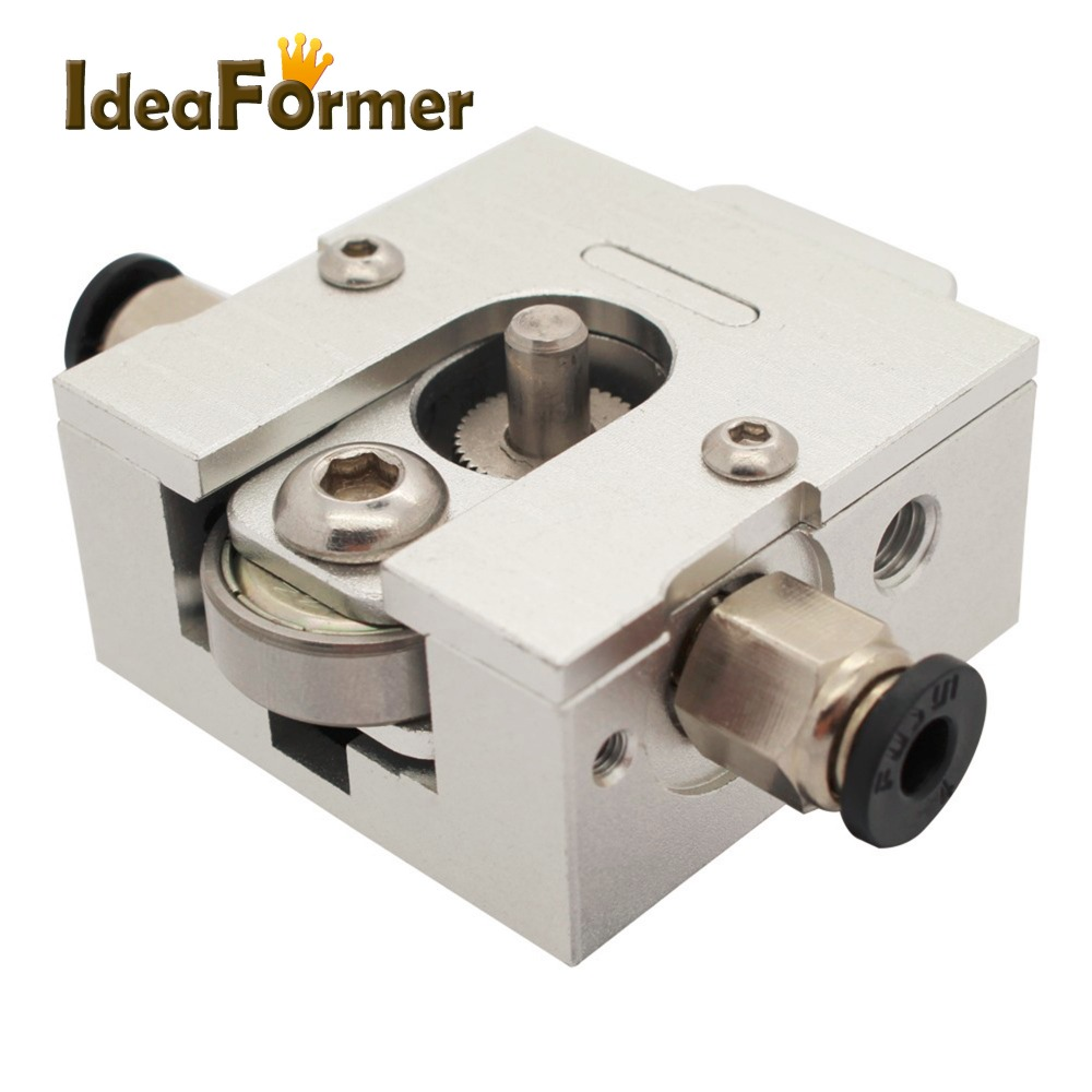 3D printer part Reprap Bulldog All-metal Extruder with connector For 1.75mm 3.0mm Compatible J-head MK8 Extruder Remote