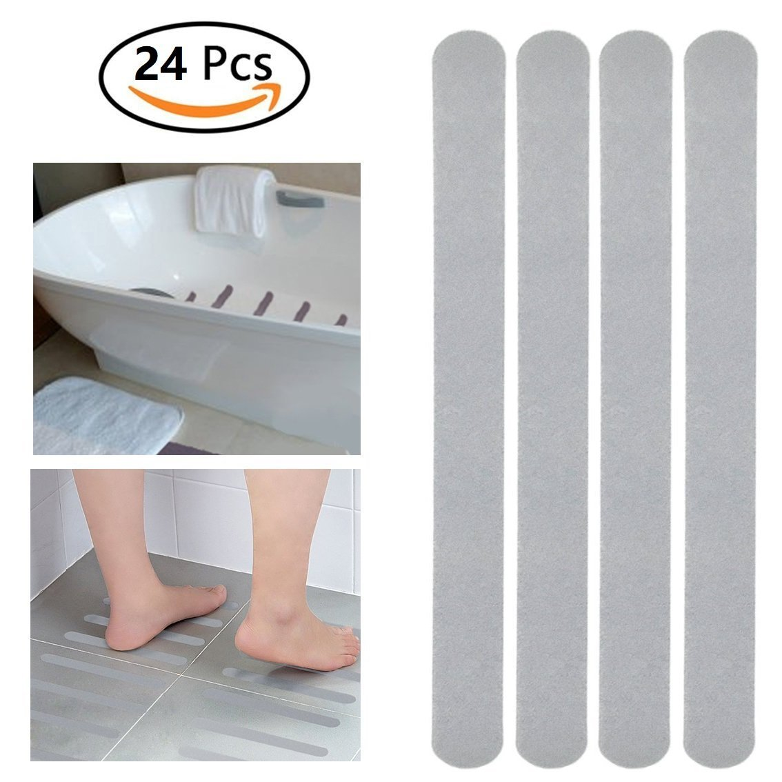 Get Quotations 24 Pcs 15 Anti Slip Strips Shower Stickers Bath Safety Transpa Non