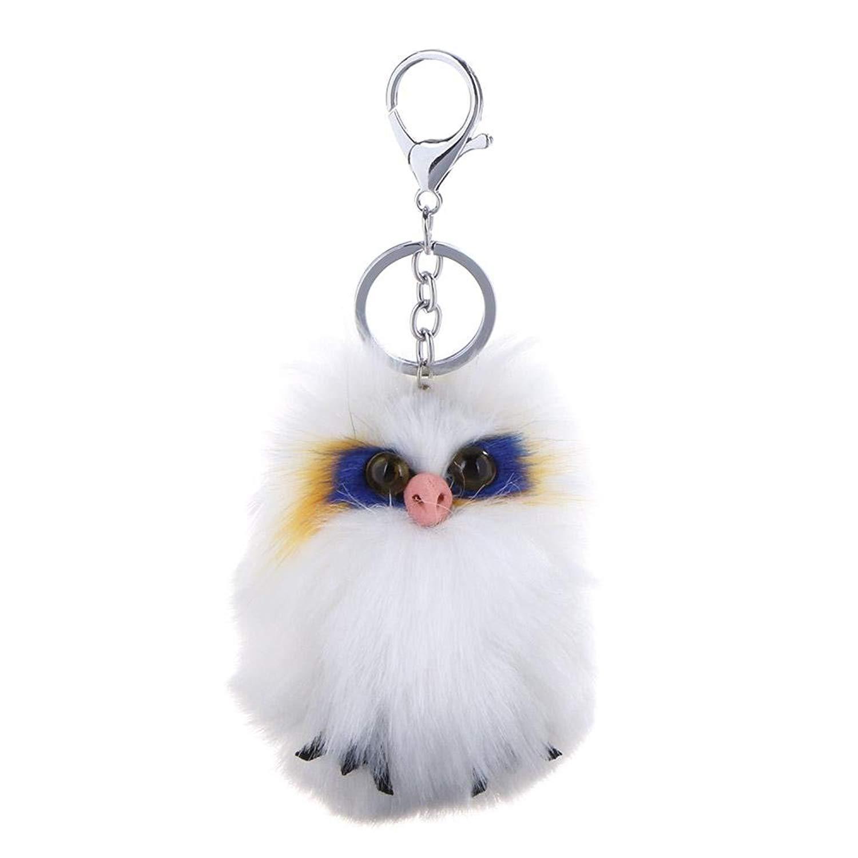 Cute Animal Shape Faux Rabbit Fur Key-chain Key Ring Hang Ornaments Gift(1)