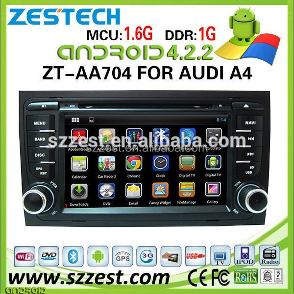 ZESTECH Dashboard Placement and Bluetooth,GPS,MP3 / MP4 ,Radio Tuner,Touch Screen,TV Combination car audio for Audi A4