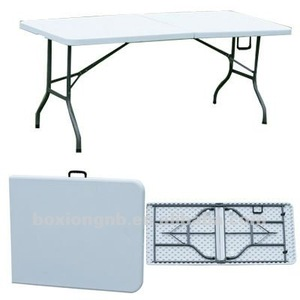 plastic fold-up trestle table