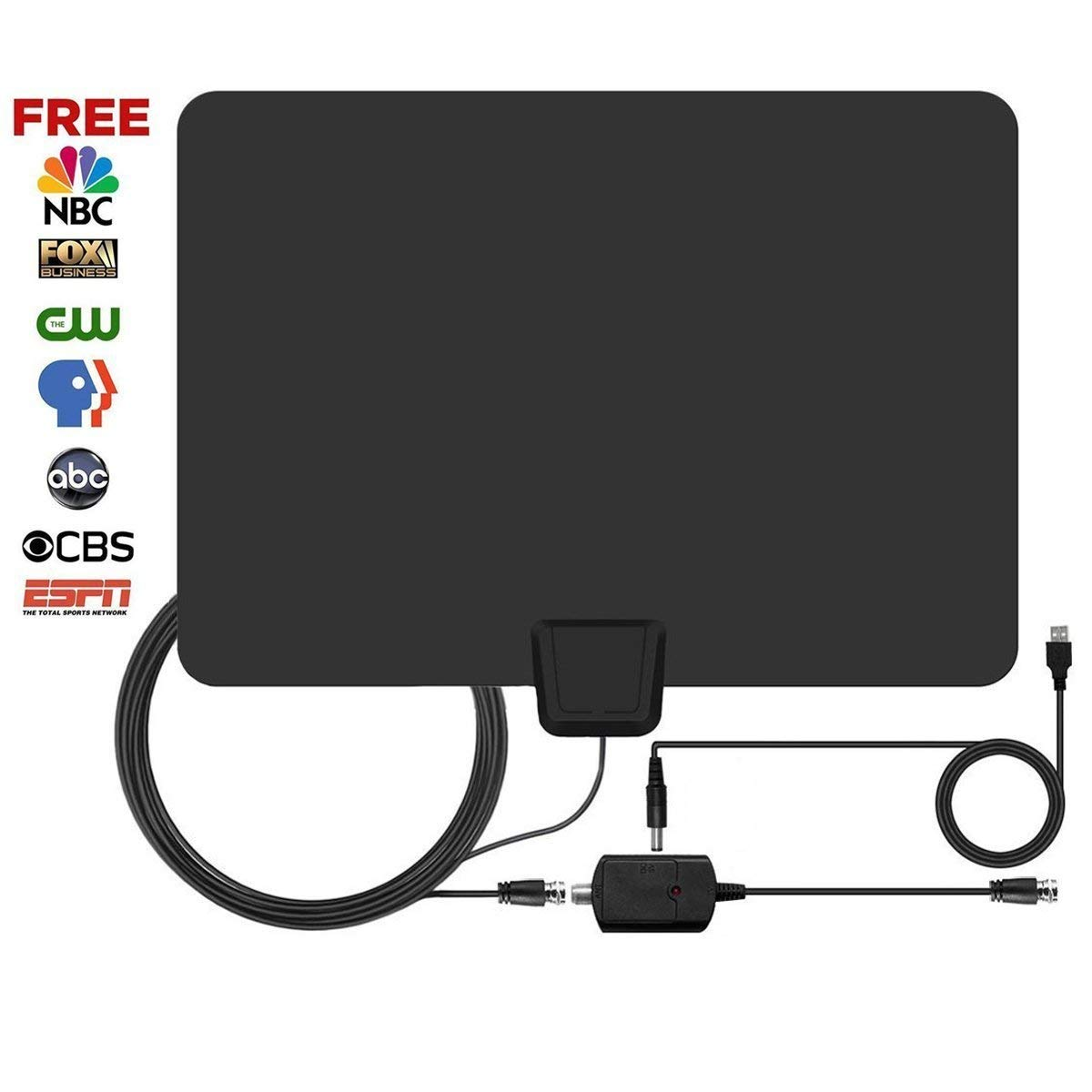 2018 New Version 50-80 Miles Long Range TV 2018 New Version Antenna - TV 2018 NEWEST VERSION Digital TV Antenna with Detachable Amplifier Signal Booster for 1080P