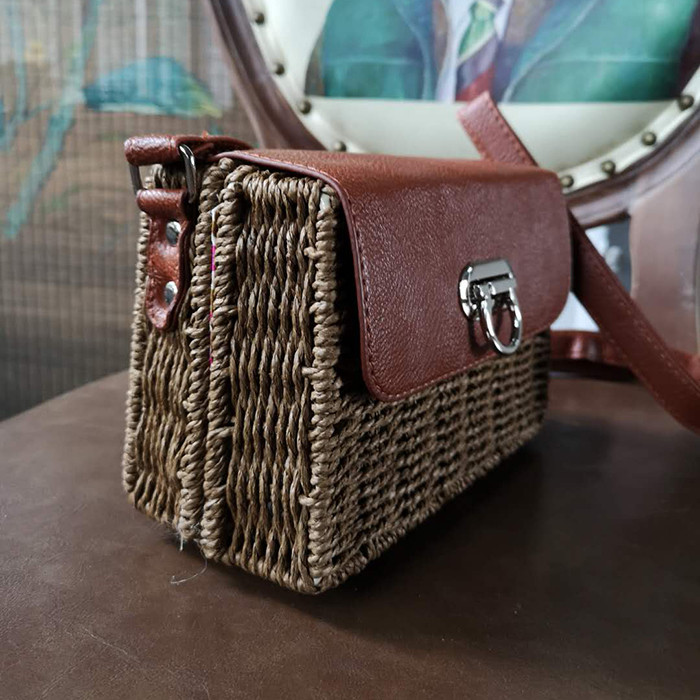 Summer Beach Handbags Women Large Tote Bag Rattan Straw Shoulder Handbag Stylish And Simple Women's Bags