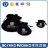 Gift packing black velvet jewelry bag