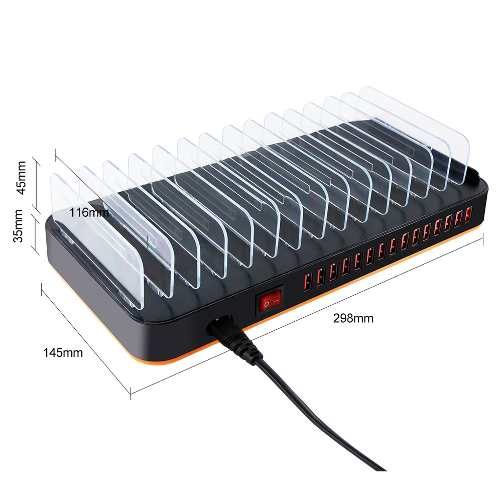 Neuer heißer Verkauf USB-Ladestation 15 Port Charger Station Multi Device Charger Universal für iPhone Handy android Tablet
