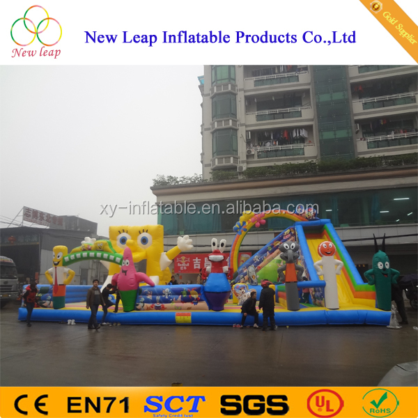 Newly Inflatable Giant Sponge baby Slide Amusement Park with bounce house