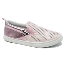 High quality new design girl loafer pink kid slip-on girl loafer shoes