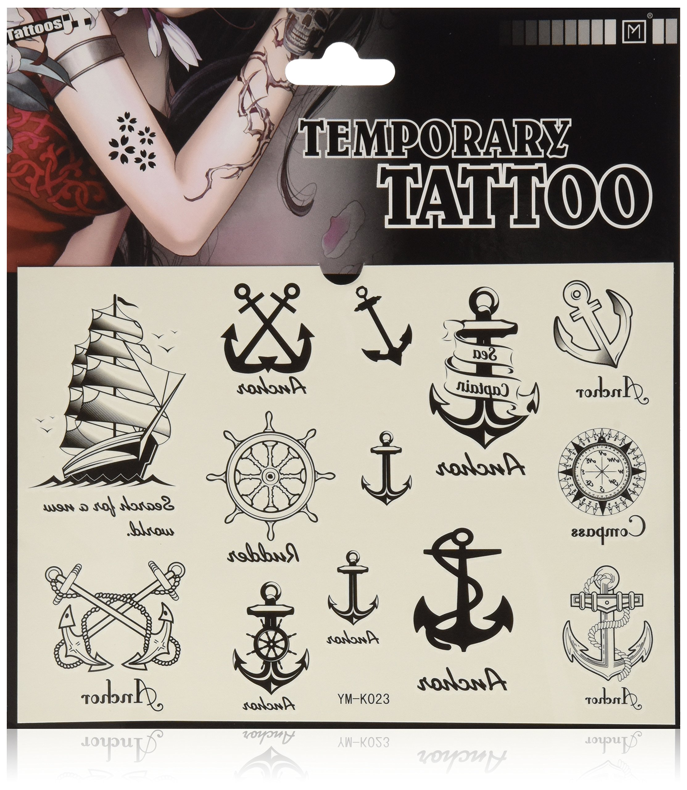 69118702a 2012 latest new design new release Temporary Tattoo waterproof anchor  nautical tattoo stickers by YiMei