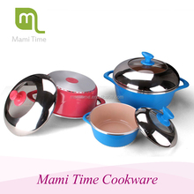 Modern kitchen designs 12 psc die casting aluminum ceramic cookware sets