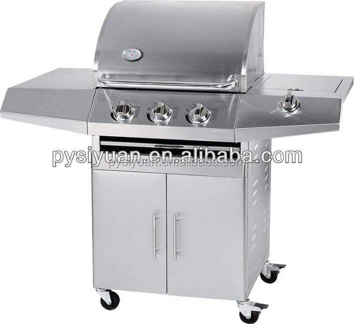 CE approval automatic outdoor stainless steel gas burners for bbq made in china