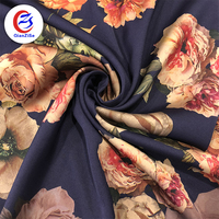 flower design paper printing party satin dress print fabric polyester for skirt