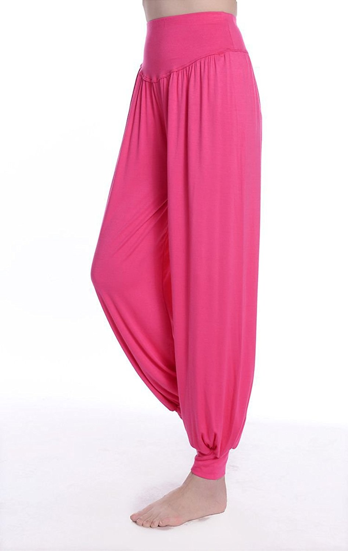 afab406e9f Get Quotations · TanQiang Women Yoga Pants Plus Size Yoga Leggings colorful  Bloomers Dance Yoga Taichi Full Length Pants