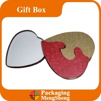 color printed empty heart shaped gift box/indian wedding gift box