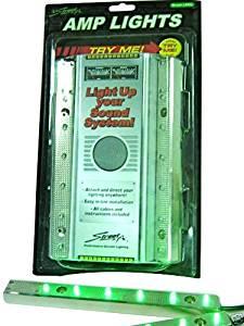 Streetfx LED Green Light up Car Sound System 12 volt, Amp Lights Streetfix.