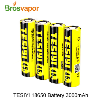 2018 100% Original tesiyi 18650 3000mah lithium battery 45A 3.7V rechargeable battery