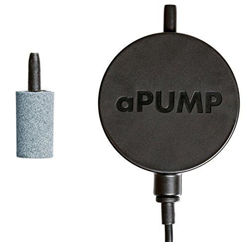 aPump Silent Air Pump for aquarium, Silent Fish Tank Oxygen Pump with Air Stone and Silicone Tube