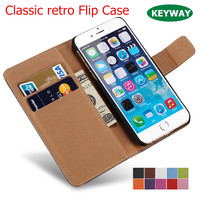 Classic Wallet Flip Case For iPhone 5 5S SE 6 6S 7 7S Plus PU Leather Wallet Cover For Samsung phone Luxury Retro Cover Case