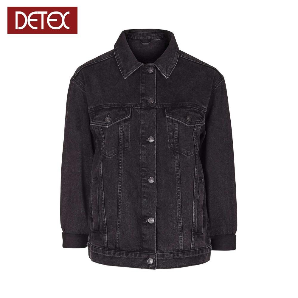 Factory Black Wholesale Mens Oversized Denim Jacket Buy Black