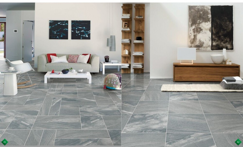 Living Room Antiskid Porcelain Tiles Rustic Floor Office Design