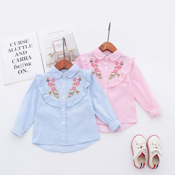 Baby Girl Kids Cotton Long Sleeve Solid Color Top Cute T-shirt