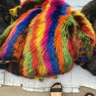 Mulit color racco fur skin / Natural Fur / Real Fox Pelt