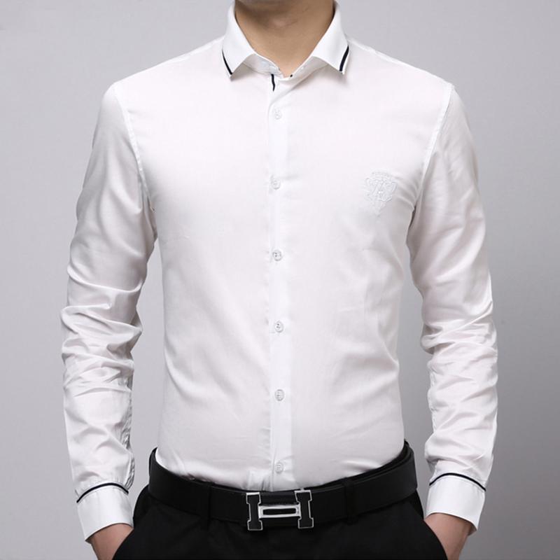 Plain White Collared Shirt Custom Shirt