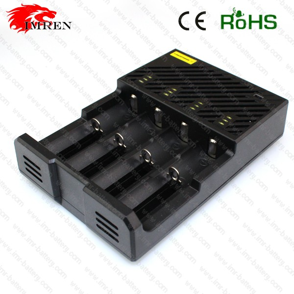 Original and good quality T4 charger 4 bay 18650 battery charger wholesale charger