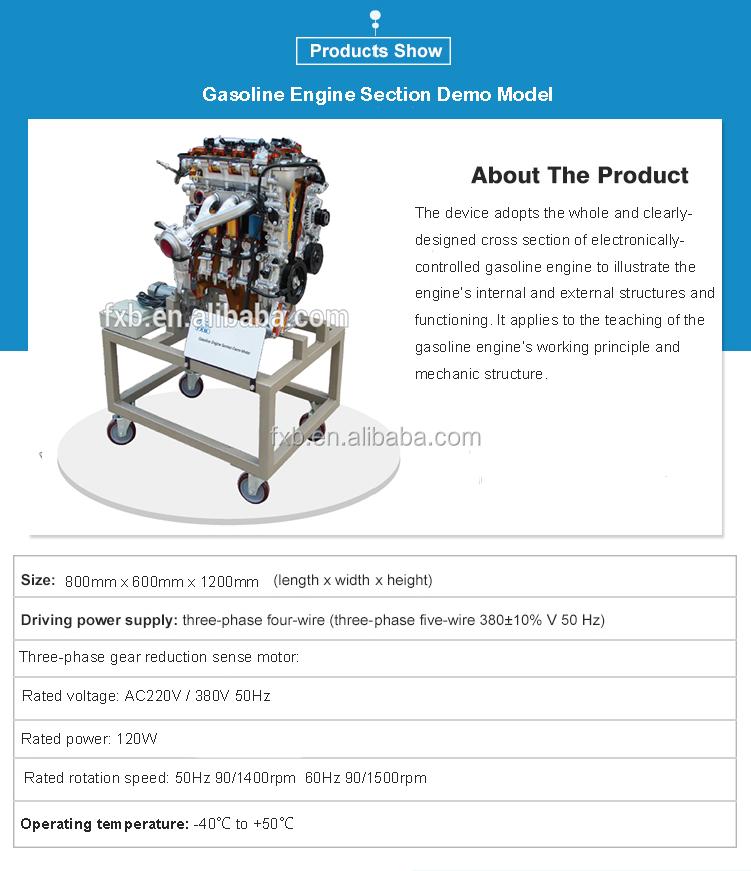 4 Stroke And 4 Clylinder Cutaway Engine Model Training Equipment Car ...