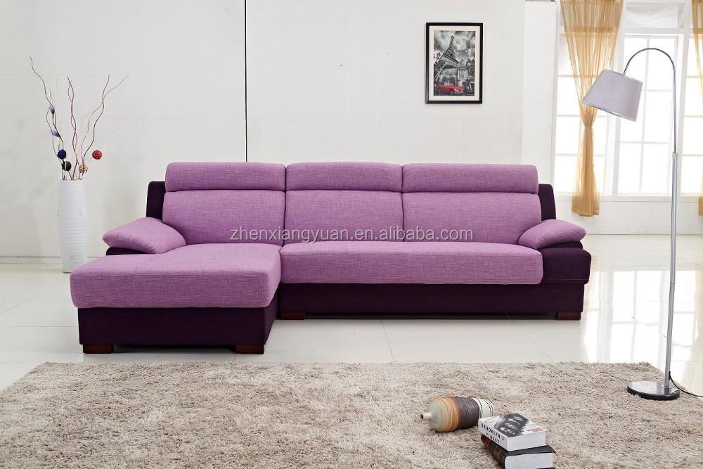 Purple Modern Living Room Furniture L Shape Sofa Bed Recliner Set Product On Alibaba