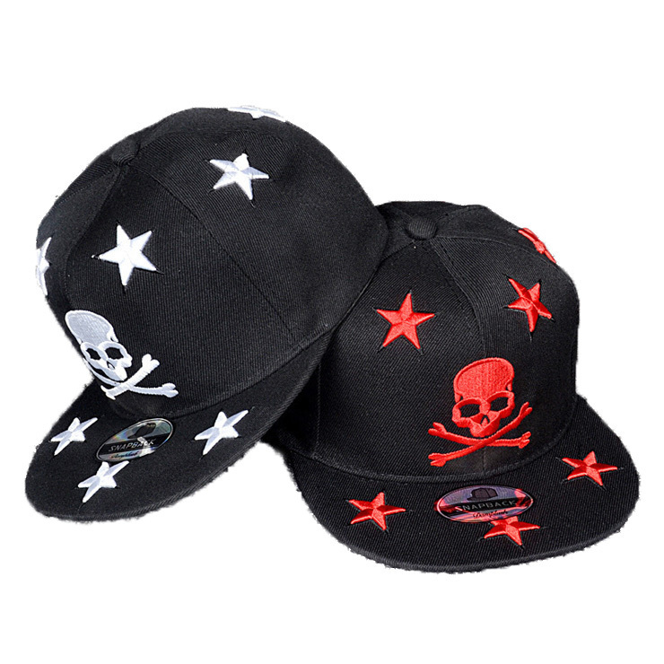 a57753aac96 Get Quotations · Men Hats Skull Pentagram Embroidery Baseball Cap Hip-hop  Hat Women Hat Adjustable Hats Around