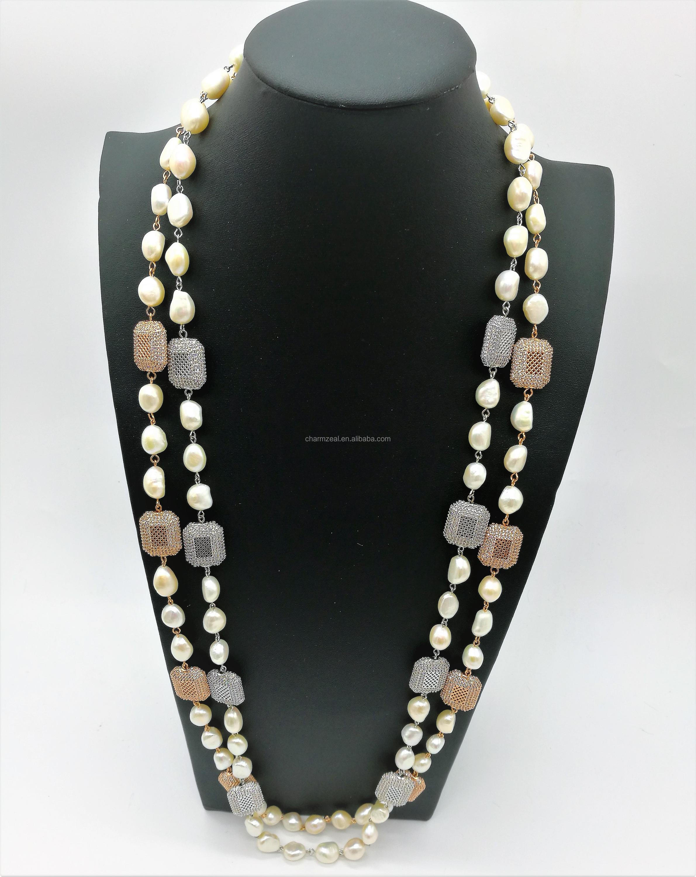 cz suede make detail product pearl jewellery costume different necklaces necklace design jewelry fashion