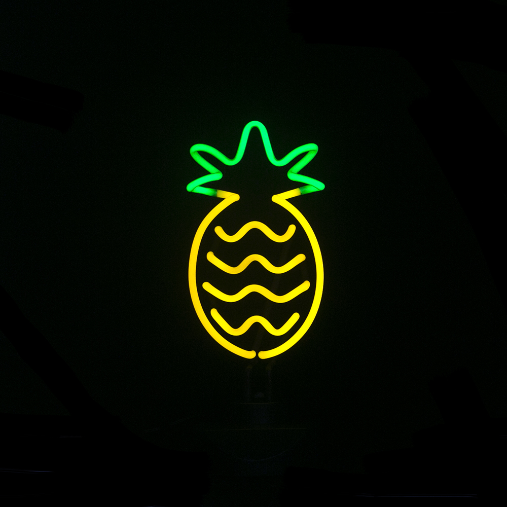 Real Glass Tube Neon Sculpture Pineapple Neon Light Neon