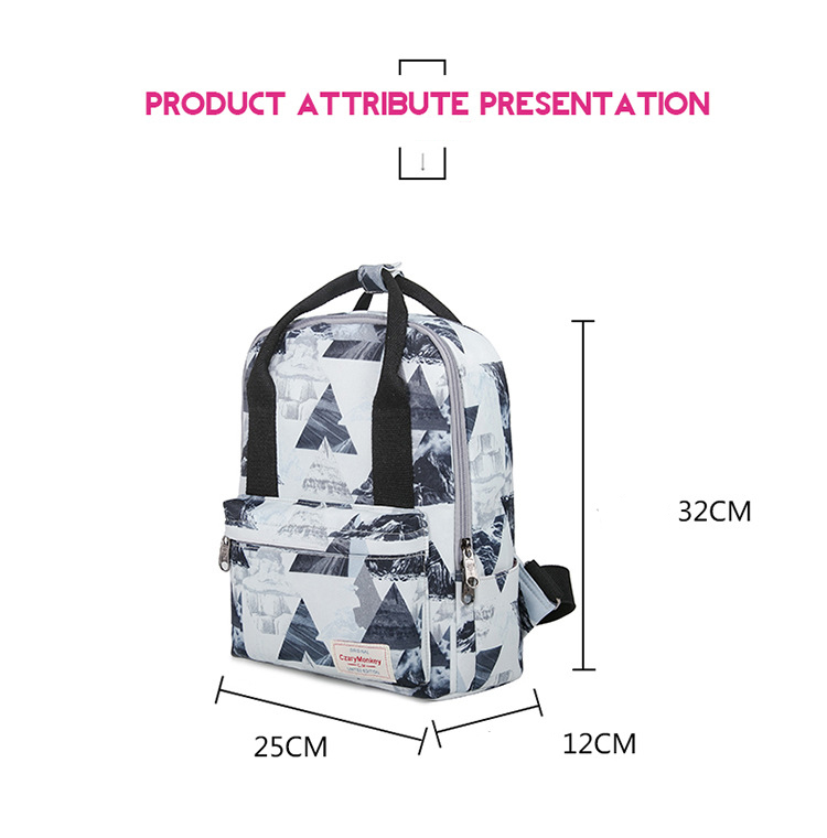 Korean Style Fashion Printing Shoulder Bag College Students Backpack Portable Travel Leisure Backpack
