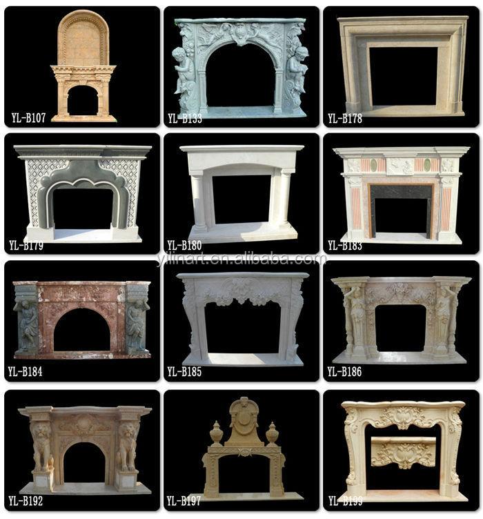 Indoor Decorative Stones : Indoor decorative stone surround fireplace buy
