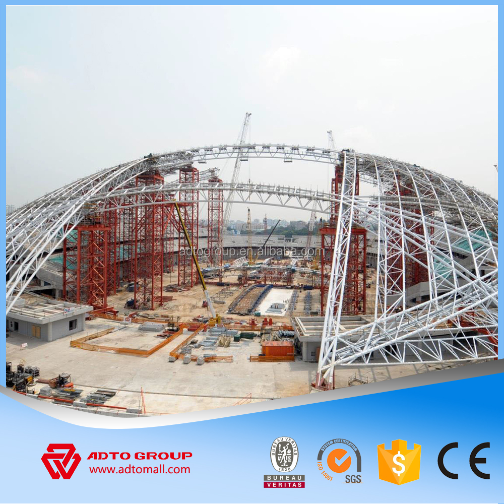Low Cost Light Steel Grid Structure Space Truss Roof Web Frame  Prefabricated Warehouse Workshop Indoor Swimming Pool For Sale - Buy Steel  Web Frame ...