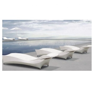 Hotel pool furniture plastic swimming pool chair outdoor sun lounger