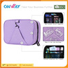 New arrival unisex fashion fabric open logo folding travel hanging toiletry bag