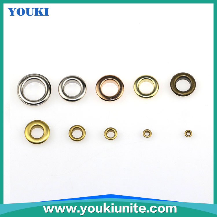 Customized sizes Metal Plated Garment Eyelets for Bag Shoes And Garment Accessories