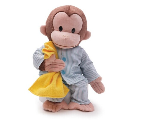Organic Cotton toys& plush Monkey bell&animal plush toy