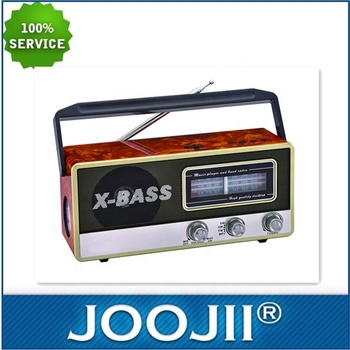 Portable Wooden Radio with led torch