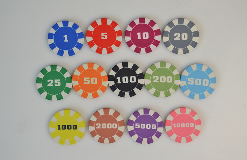 Anti-Impatto Materiale 10g Ept di Ceramica Su Ordinazione poker chips