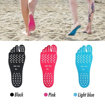 Barefoot Beach Invisible Shoes Portable Foot Stickers Adhesive Pad Anti Skidding Use
