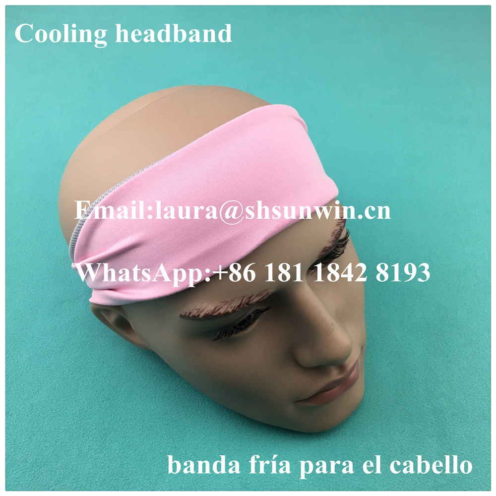 Customized printed logo anti slip sports mini bandana elastic hair band