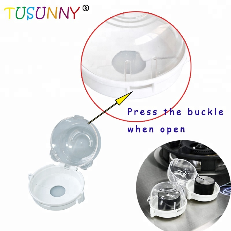 4 Pack Kitchen Stove Knob Covers Baby Proofing Oven Gas Stove Knob Protection Locks for Child Safety