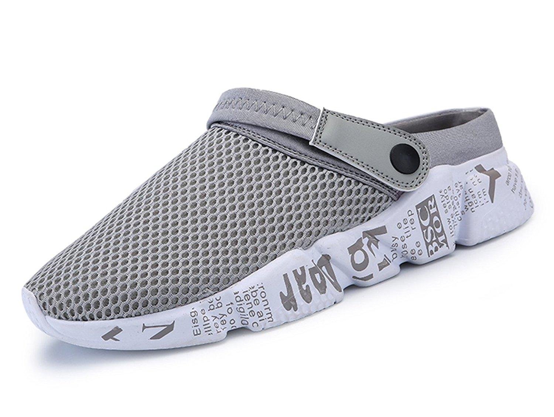 74a5b5efa Get Quotations · Sooneeya Mens Breathable Mesh Net Sandals Slippers  Lightweight Walking Slip on Half Shoes Summer Beach Sport