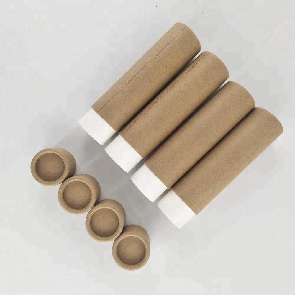 custom biodegradable paper push up lip balm <strong>tube</strong>